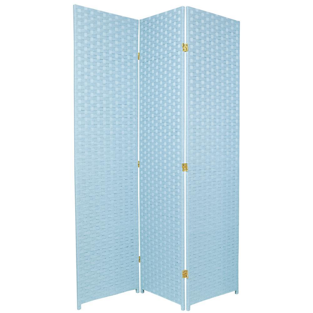 6 ft. Aqua Blue 3-Panel Room Divider