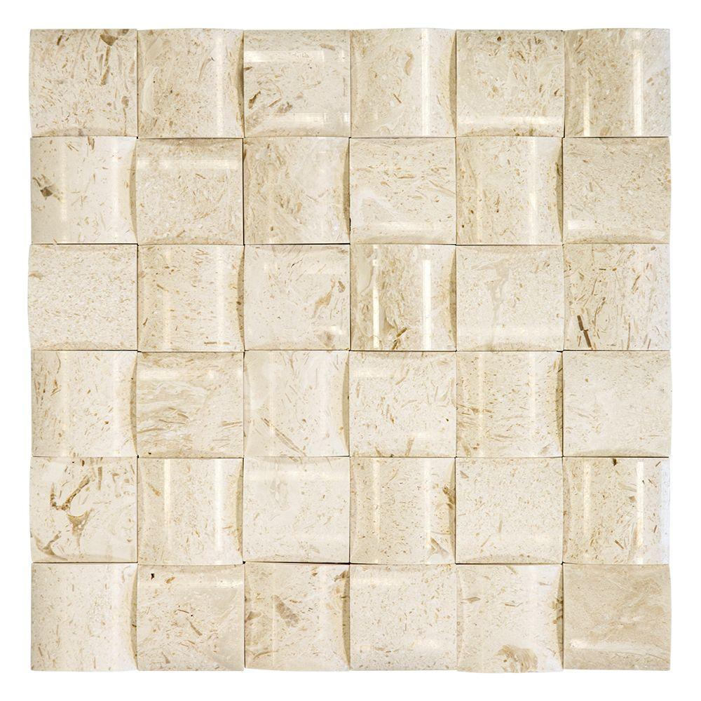 Patchwork 11-1/2 in. x 11-1/2 in. x 15 mm Stone Mosaic