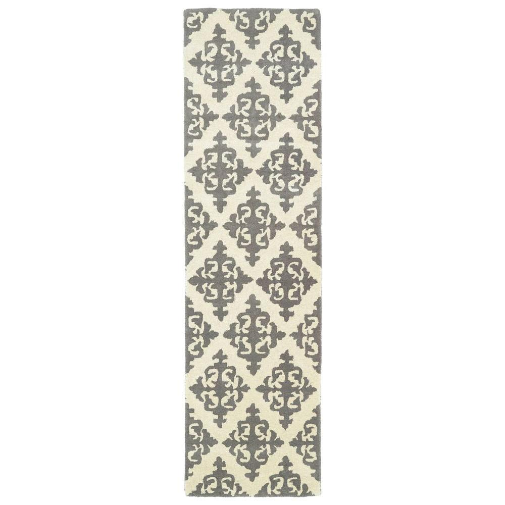 Evolution Grey 2 ft. 3 in. x 8 ft. Runner