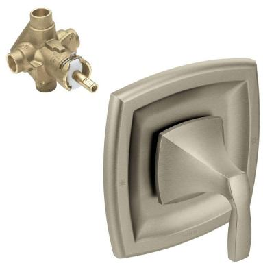 Voss Single-Handle Posi-Temp Valve Trim Kit with Valve in Brushed Nickel