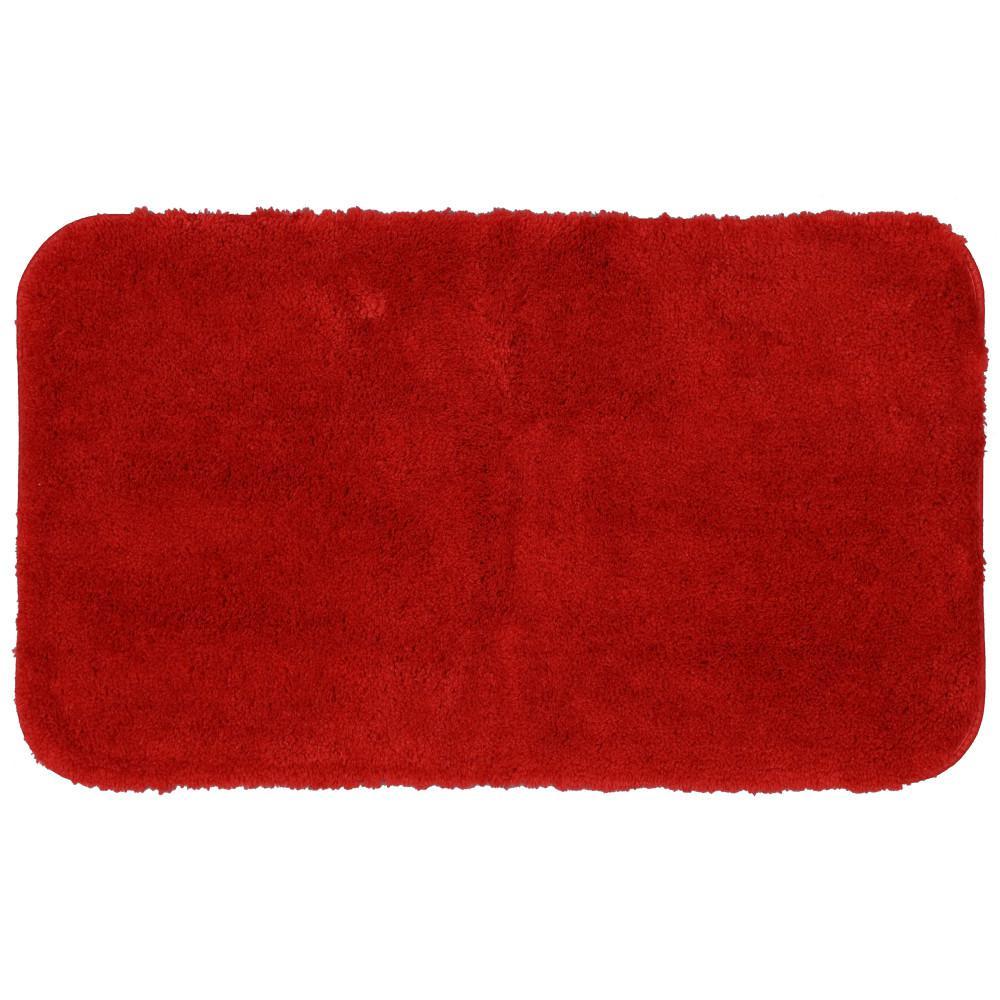 Red 20 In X 34 Nylon Bath Rug