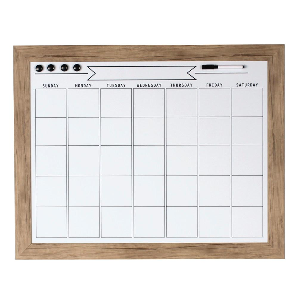 Beatrice Dry Erase Monthly Calendar Memo Board