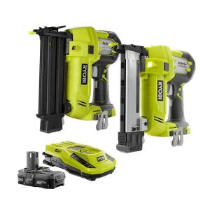 Ryobi 18-Volt ONE+ AirStrike Brad Nailer and Narrow Crown Stapler Combo by Ryobi