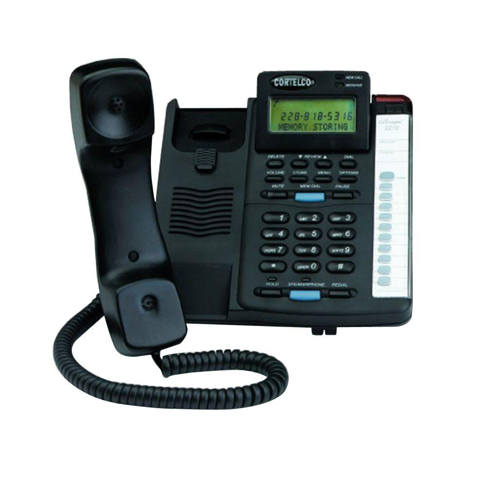 Cortelco Colleague Corded Telephone with Caller ID - Black