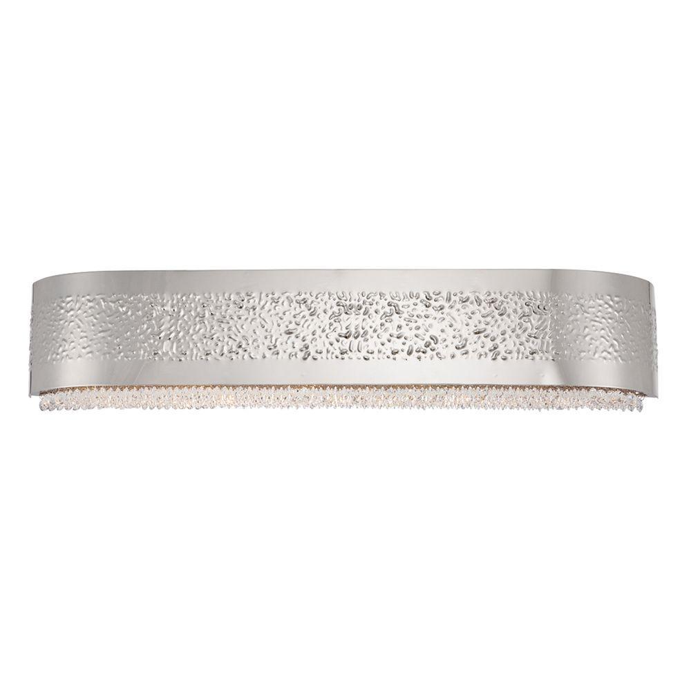 Cara Collection 5-Light Satin Nickel Bath Bar Light