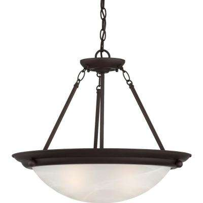 Lunar 3-Light Antique Bronze Interior Pendant
