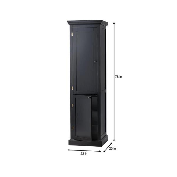 Prescott Black Modular Kitchen Pantry With 2 Doors Sk19171ar1 Bk The Home Depot