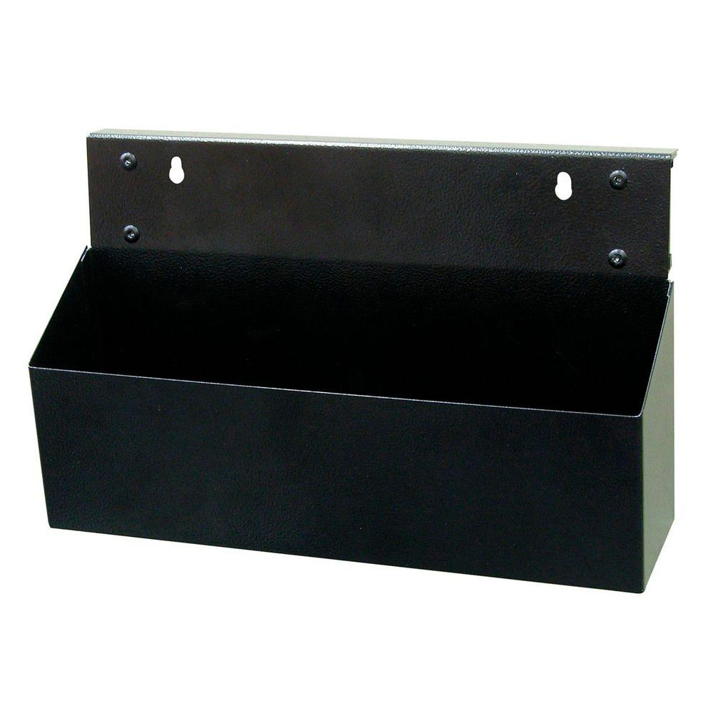 Triton Products MagClip 12 in. L x 3.5 in. W x 5 in. H Black Powder Coated Steel Magnetic Tool Box