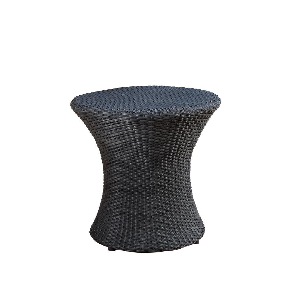 Admirable Noble House Adriana Round Wicker Outdoor Accent Table Pabps2019 Chair Design Images Pabps2019Com