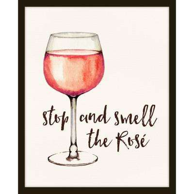 """22 in. x 26 in. """"Stop and Smell the Rose"""" Framed Giclee Print Wall aRt"""