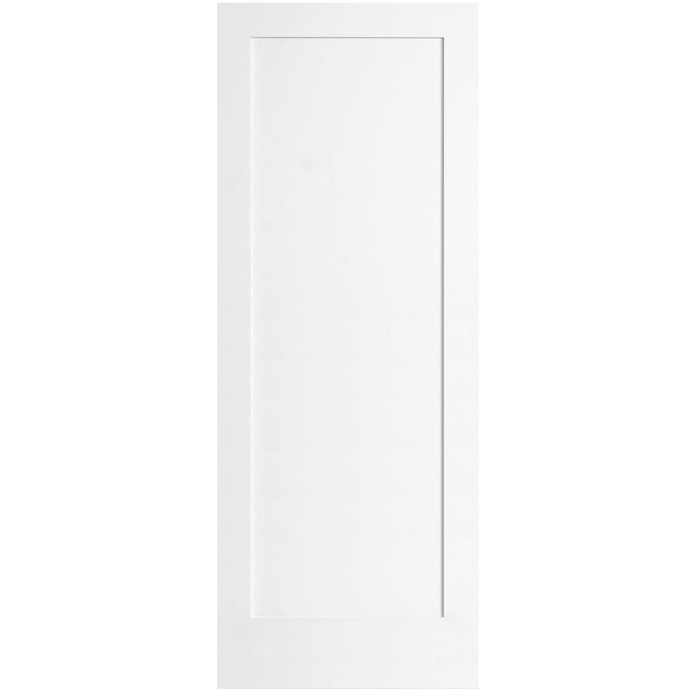 Steves & Sons Ultra 1-Panel Pine Primed White Interior Door Slab