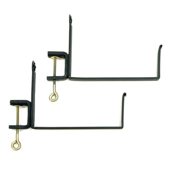 Clamp-On Wrought Iron Flower Box Brackets