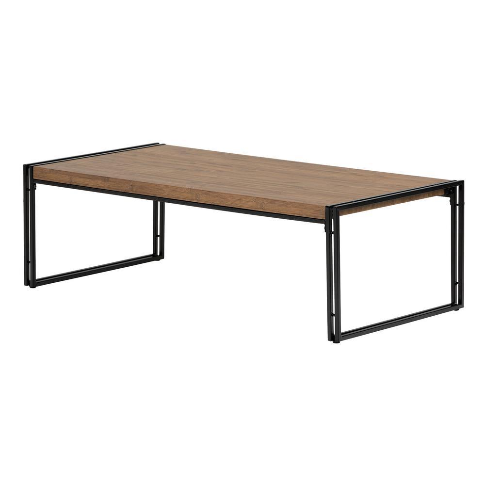 Gimetri Rustic Bamboo Coffee Table
