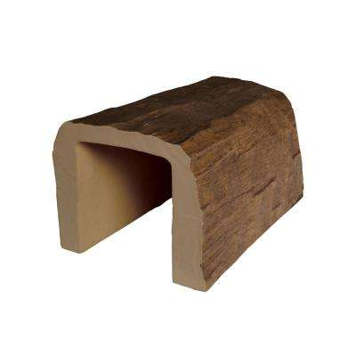 7-1/2 in. x 6-5/8 in. x 0.5 ft. L Medium Oak Hand Hewn Faux Wood Beam Sample