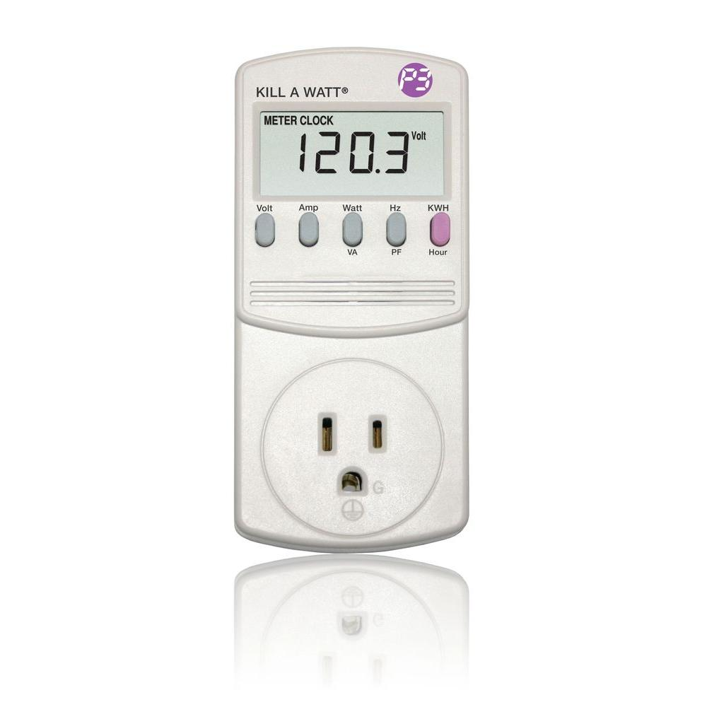 Kilowatt Usage Meter : Kill a watt electricity monitor p the home depot