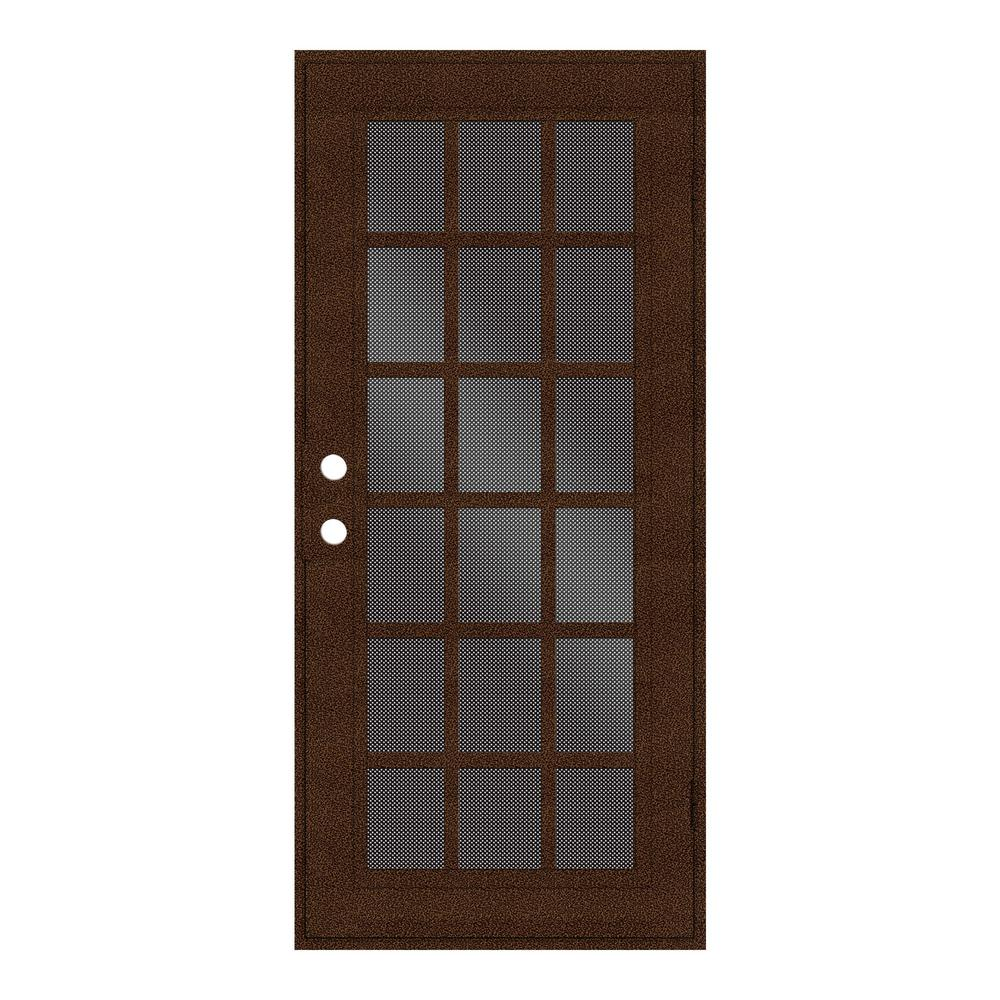 36 in. x 80 in. Classic French Copperclad Right-Hand Surface Mount