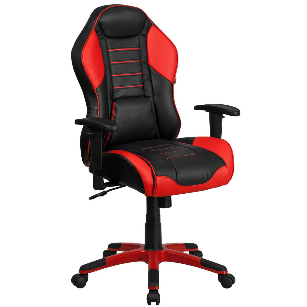 Flash Furniture High Back Rossa Corsa Red Vinyl Executive Swivel
