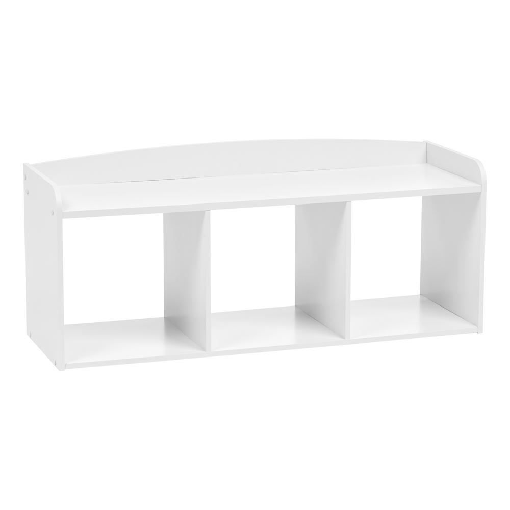 IRIS Kid\'s White Wooden Storage Bench
