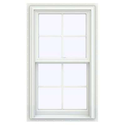 23 5 In X 35 V 2500 Series White Vinyl Double Hung Window