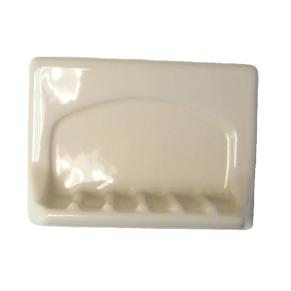 Wall-Mounted Bone Ceramic Tub Soap Dish