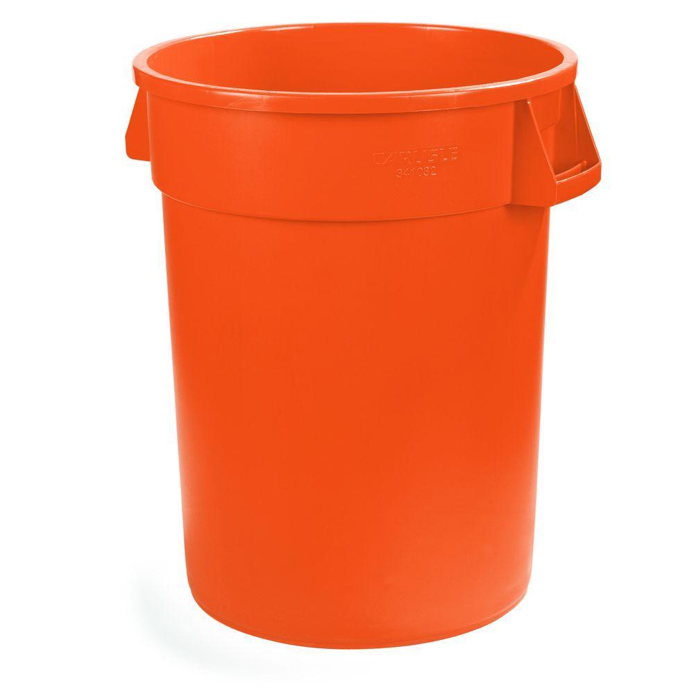 Bronco 32 Gal. Orange Round Trash Can (4-Pack)