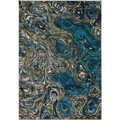Pepin Deep Blue 7 ft. 11 in. x 10 ft. Indoor Area Rug
