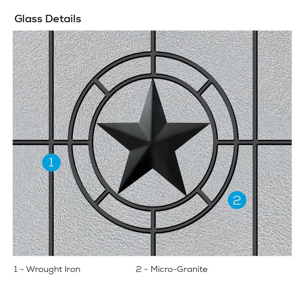 Mmi Door Elegant Star 64 In X 80 In Right Hand Full Lite Decorative Glass Alabaster Painted Fiberglass Prehung Front Door Z03745457r The Home Depot