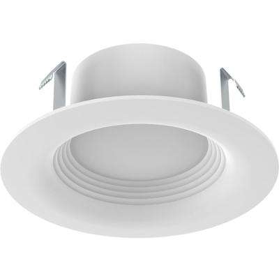 Recessed lighting lighting the home depot white integrated led recessed trim 3 pack mozeypictures Images