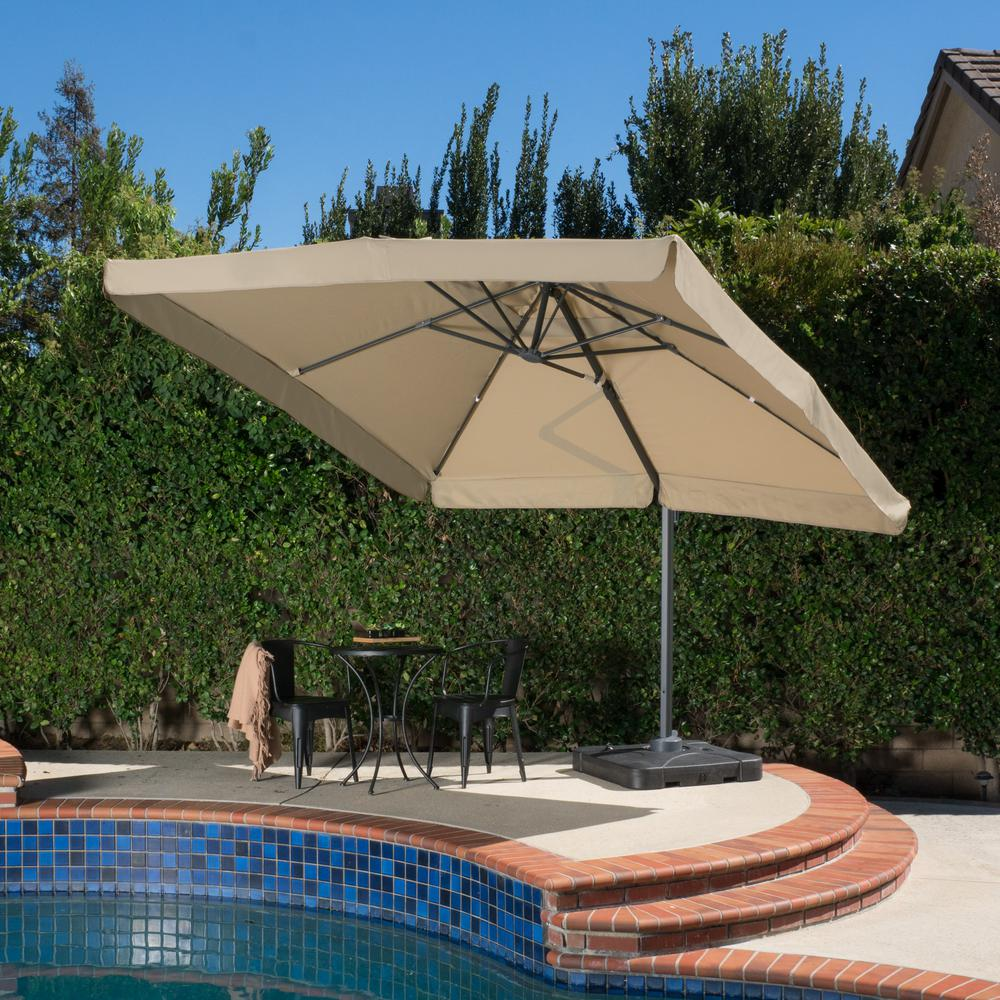 Noble House Merida 9-1/2 ft. Cantilever Patio Umbrella in Taupe