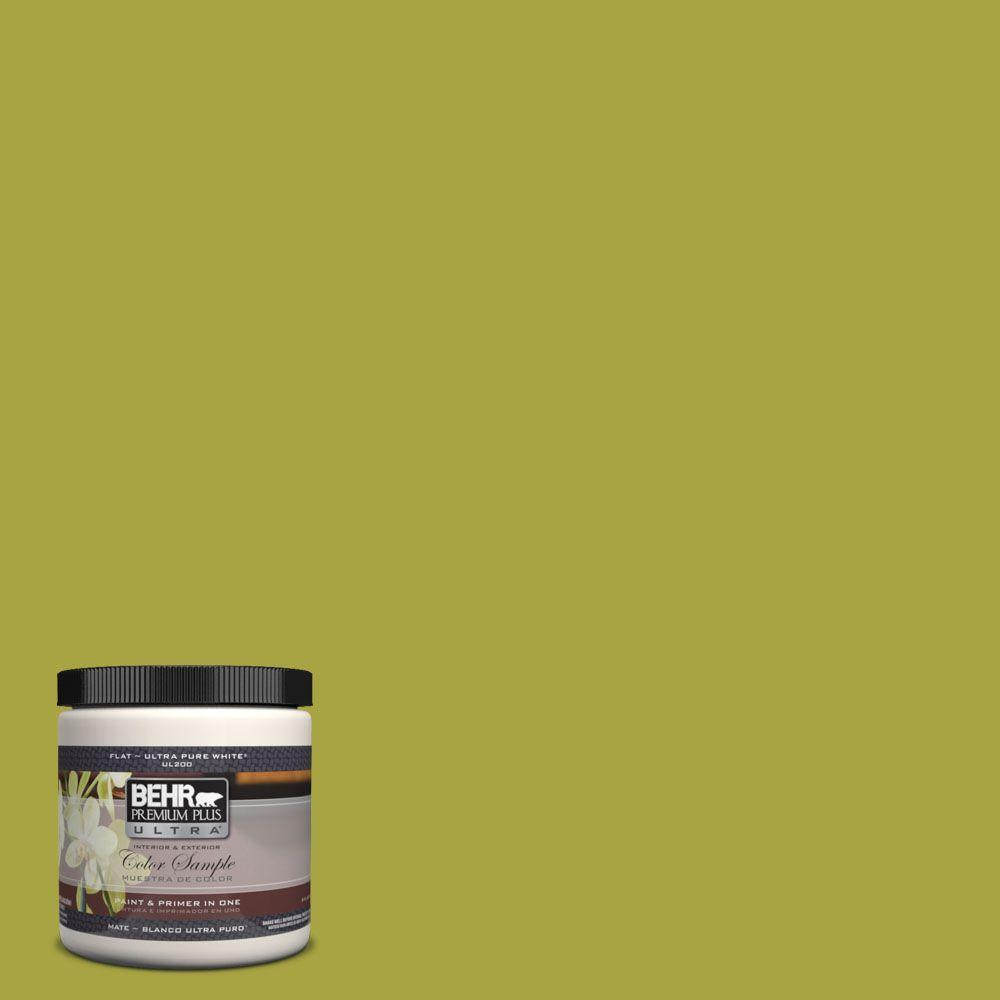 8 oz. #400B-7 Lemon Grass Interior/Exterior Paint Sample