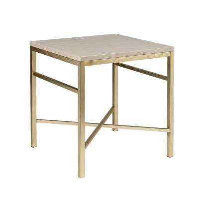 Nellie Matte Brass End Table