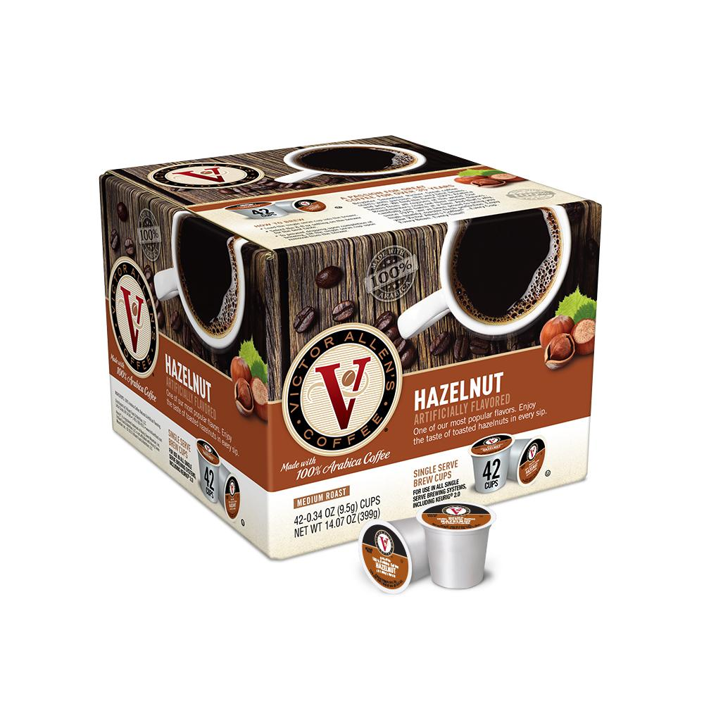 VictorAllens Victor Allen's Hazelnut Coffee (42 Single Serve Cups per Case)