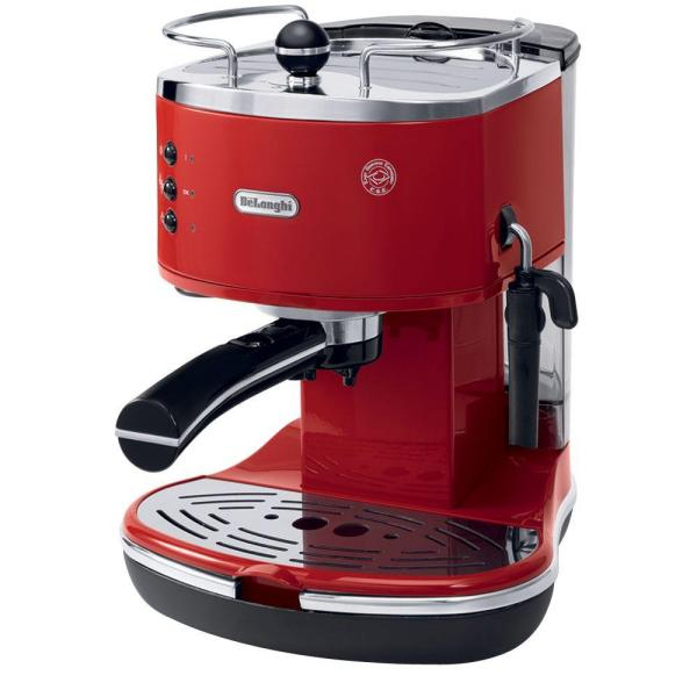 DeLonghi Icona Espresso 15-Bar Red Espresso Machine and Cappuccino Maker ECO310R
