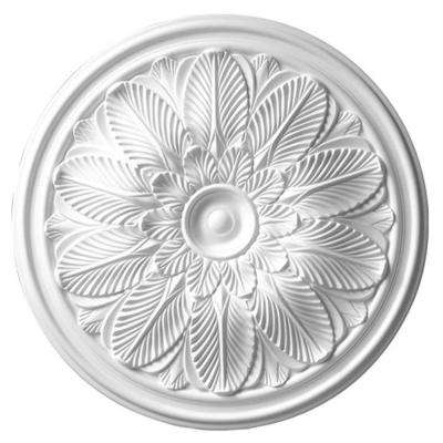 22-5/8 in. x 1-3/4 in. Leaf Polyurethane Ceiling Medallion