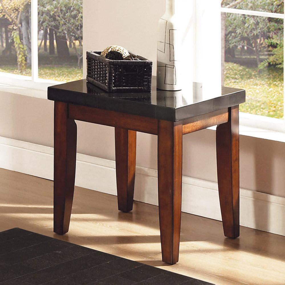 Granite Bello Black Granite Top End Table