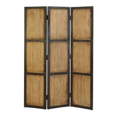 5.92 ft. Natural 3-Panel Room Divider
