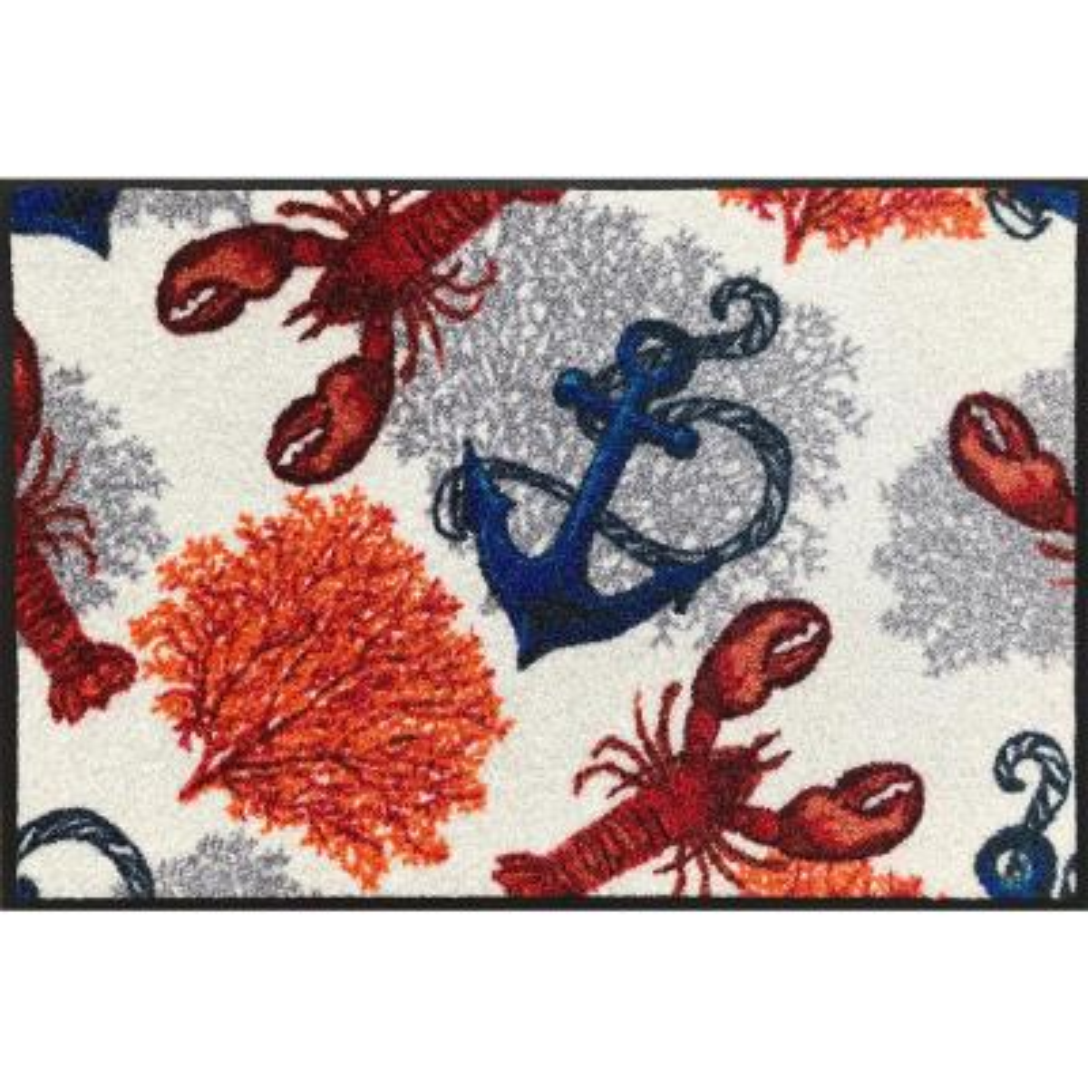 Whimsy Anchors Away 20 in. x 30 in. Nylon Doormat