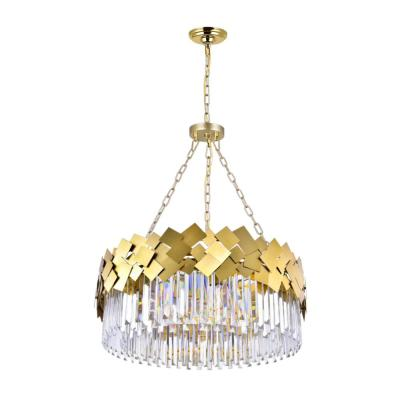Panache 8-Light Medallion Gold Contemporary Chandelier