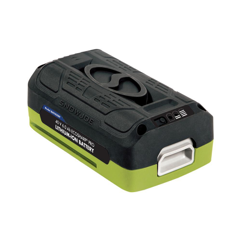 40-Volt 6.0 Ah Lithium Battery for Snow Joe iON Series