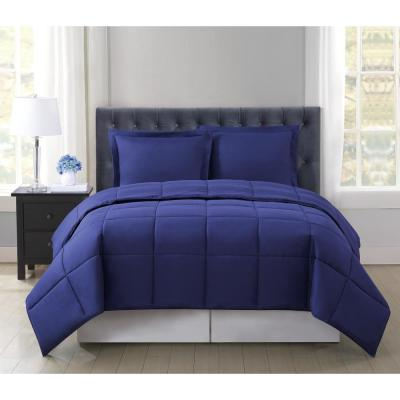 Everyday Reversible 3-Piece Navy Full/Queen Comforter Set