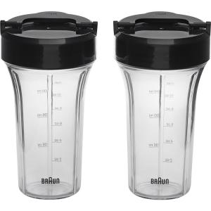 Braun Smoothie2Go Blending Cup Set for PureMix Countertop Blenders (Set of 2) by Braun