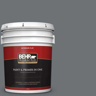 5 gal. #MQ5-28 Dawn Gray Flat Exterior Paint and Primer in One