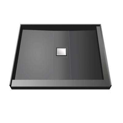 48 in. x 48 in. Double Threshold Shower Base with Center Drain