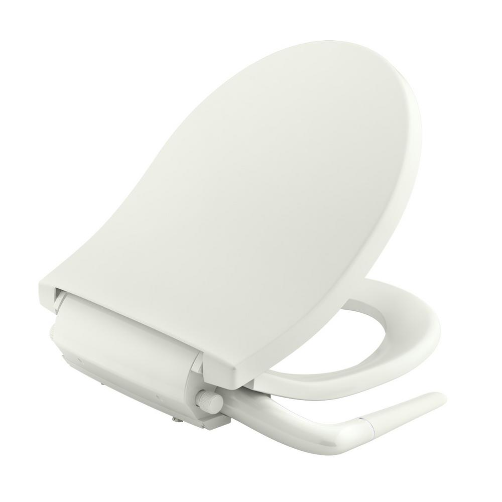 Kohler Puretide Non Electric Bidet Seat For Round Toilet In Biscuit K 76923 96 The Home Depot