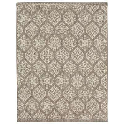 Taurus Grey Cream 4 ft. x 6 ft. Area Rug