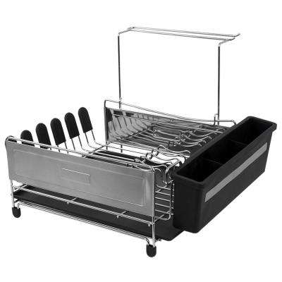 Black and Silver Standing Dish Rack