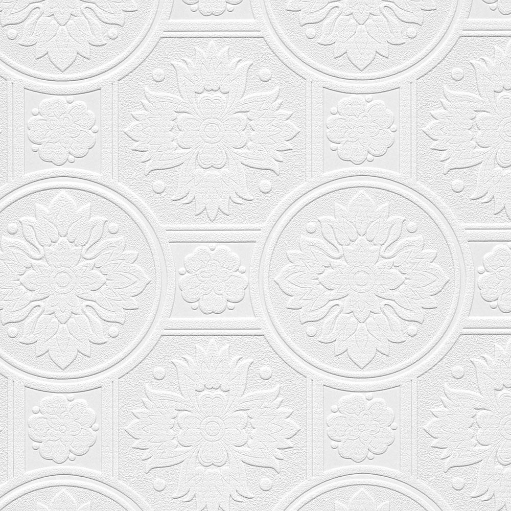 Norwall 19th Century Tile Paintable Wallpaper