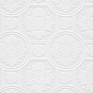 Norwall 19th Century Tile Paintable Wallpaper by Norwall