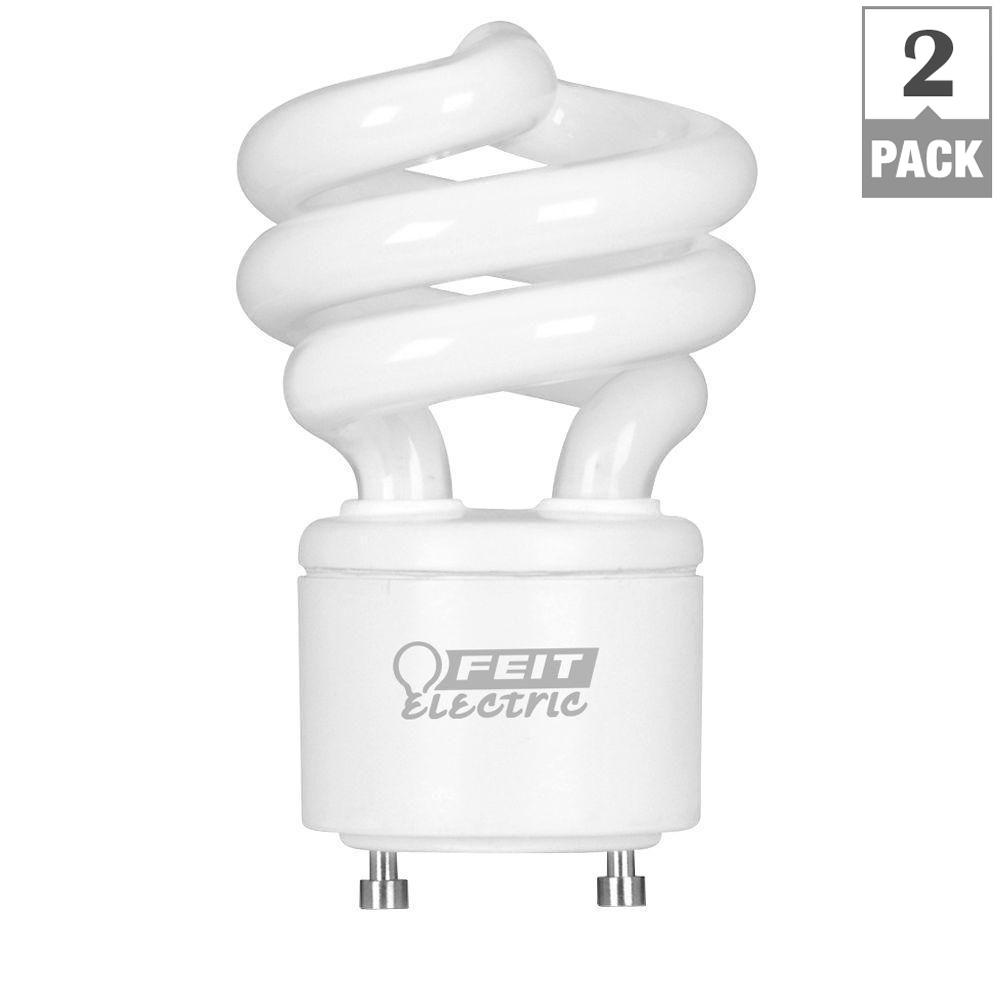60-Watt Equivalent Soft White (2700K) Spiral GU24 CFL Light Bulb (2-Pack)