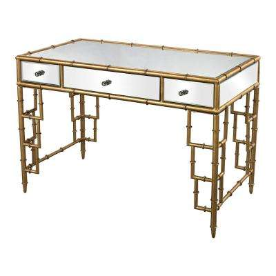 Gold Mirrored Desk